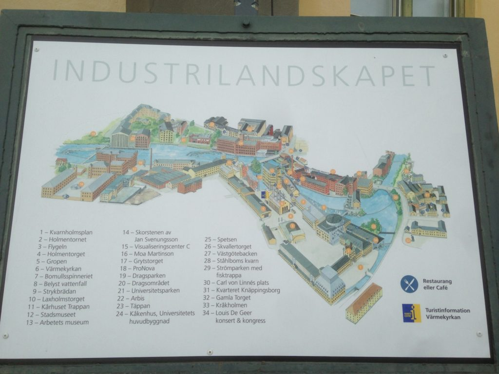 die Industrielandschaft Norrköppings